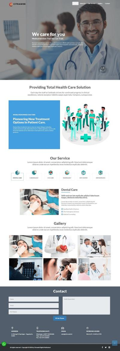 LANDING PAGE - HEALTHCARE