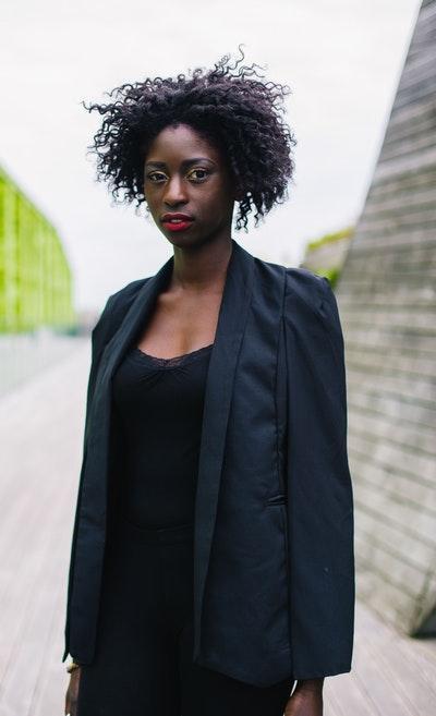 Black Plaid Sharon Blazer